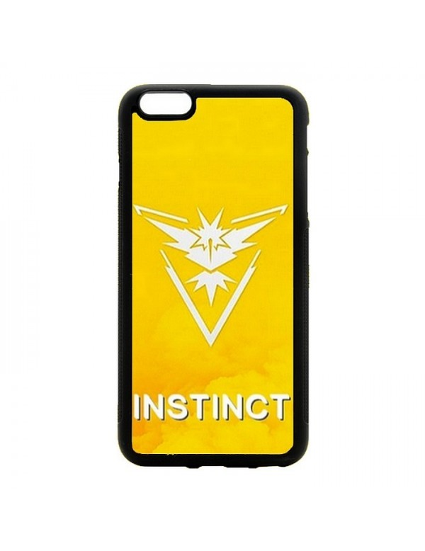 Coque 2d pour iPhone 5/5S, SE Pokemon go team instinct jaune