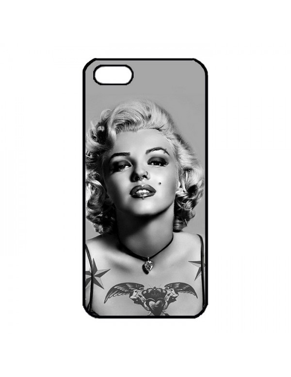 Coque iPhone 5/5S Marylin Monroe Noir et blanc