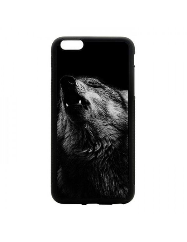 Coque iPhone 5/5S Magnifique loup noir et blanc