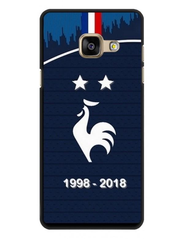 Coque rigide Samsung Galaxy A3 de 2017 - Football Champion du monde 2018 - Merci les bleus!