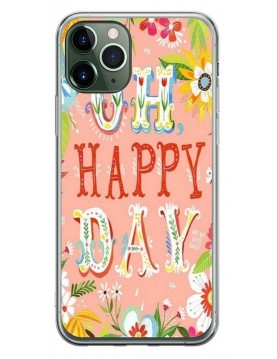 Coque souple iPhone 11 Pro Max Oh Happy Day Rose Fleurs
