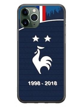 Coque spécial coupe du monde 2018 Maillot domicile deux étoiles  iPhone 11 Pro iPhone 11 Pro Max
