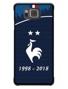 Coque rigide Samsung Galaxy Alpha - Football Champion du monde 2018 - Merci les bleus!