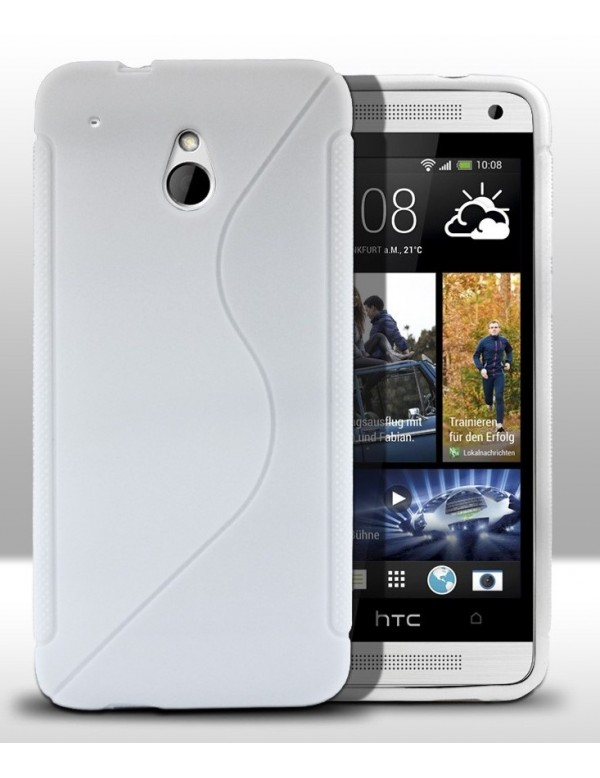 Coque HTC One mini Silicone Grip-Blanc