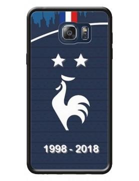 Coque rigide Samsung Galaxy Note 5 - Football Champion du monde 2018 - Merci les bleus!