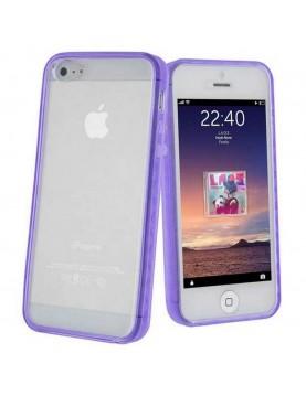 Bumper en silicone pour iPhone 5C - Violet