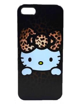 Coque souple iPhone 5C Hello Kitty marron