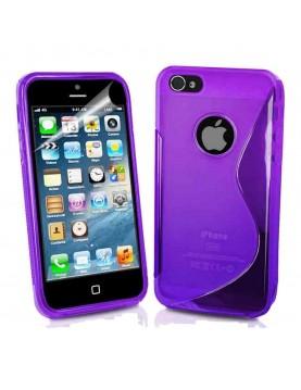 Coque en silicone S-Line violet pour iPhone 5C