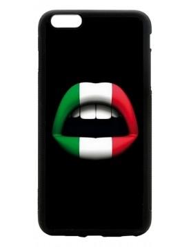 Coque rigide  iPhone 6/6S - Des lèvres aux couleurs de l'Italie