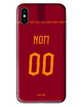 COQUE MAILLOT FOOT - AS ROMA DOMICILE 2019/2020 - PERSONNALISABLE