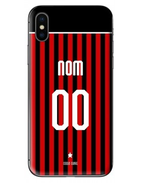 COQUE MAILLOT FOOT - AC MILAN DOMICILE 2019/2020 - PERSONNALISABLE