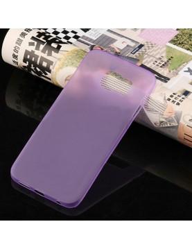 Coque silicone Samsung Galaxy S6 Edge Violet