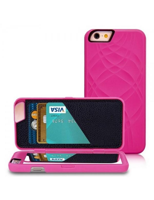 Coque iPhone 6/6S - Miroir intégré - Rose