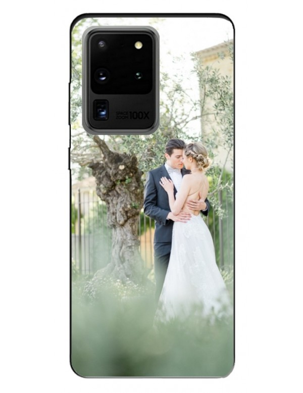 Samsung Galaxy S20 Ultra- Coque personnalisable - Souple Noir