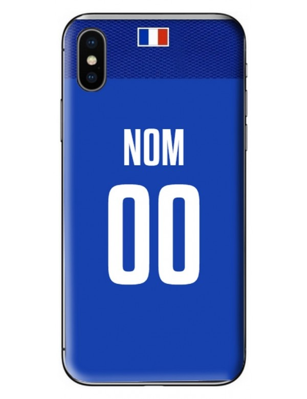 COQUE MAILLOT RUGBY - FRANCE DOMICILE 2019 - PERSONNALISABLE