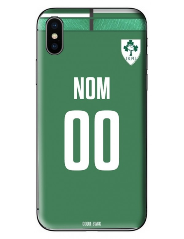 COQUE MAILLOT RUGBY - IRLANDE DOMICILE 2019 - PERSONNALISABLE