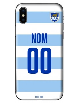 COQUE MAILLOT RUGBY - ARGENTINE DOMICILE 2019 - PERSONNALISABLE