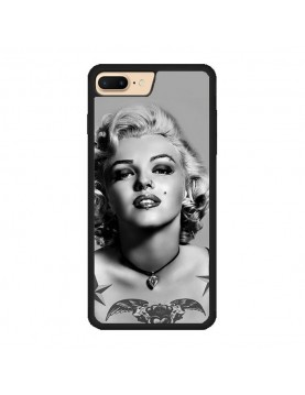 Coque iPhone 7 PLUS/8 PLUS - Marilyn Monroe Noir et blanc
