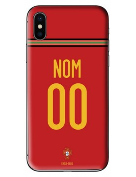 COQUE MAILLOT FOOT PORTUGAL EURO 2020 DOMICILE - PERSONNALISABLE
