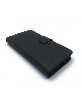 Etui Folio noir pour ZTE Blade S7 avec range carte