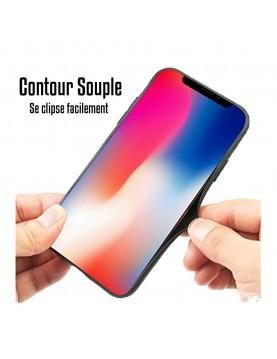 Coque noir pour iPhone 7 Plus/8 Plus - Geste rappeur Jul
