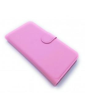 Etui Folio rose pour ZTE Blade S7 avec range carte vue 1