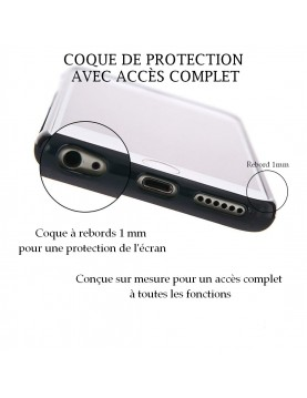 iPhone SE 2020 - Coque personnalisable - Contour Souple Noir