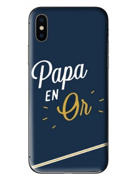 Coque de protection Papa en or Collection fête des pères