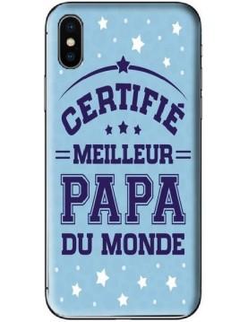 Coque de téléphone collection Fête des pères certifié meilleur Papa