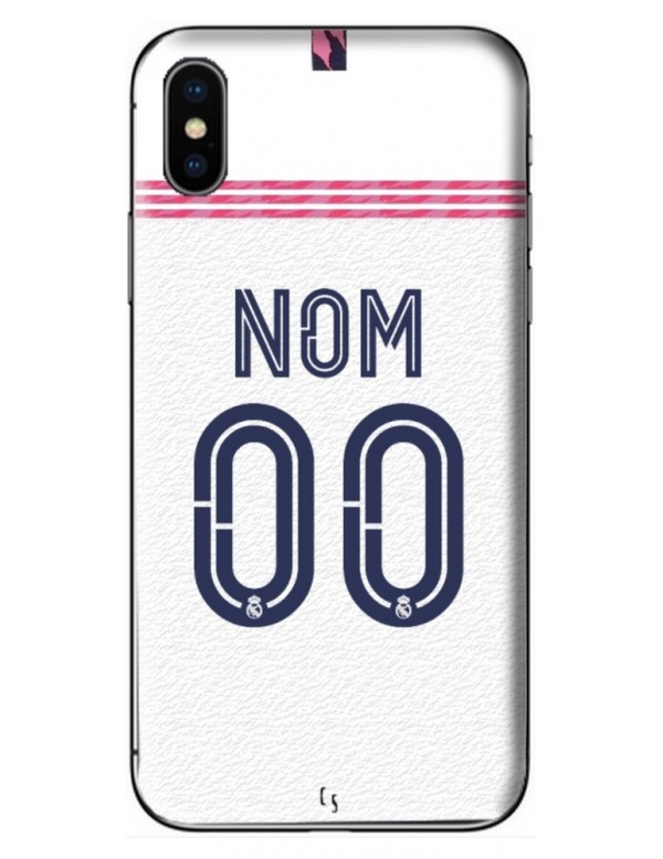 COQUE MAILLOT FOOT - REAL MADRID DOMICILE 2020/2021 - PERSONNALISABLE