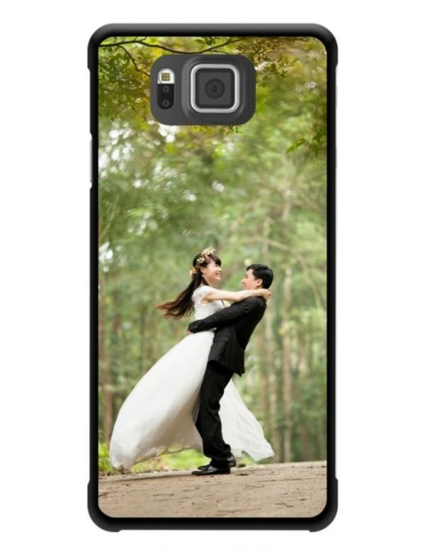 Samsung Galaxy Alpha - Coque personnalisable - Rigide Noir