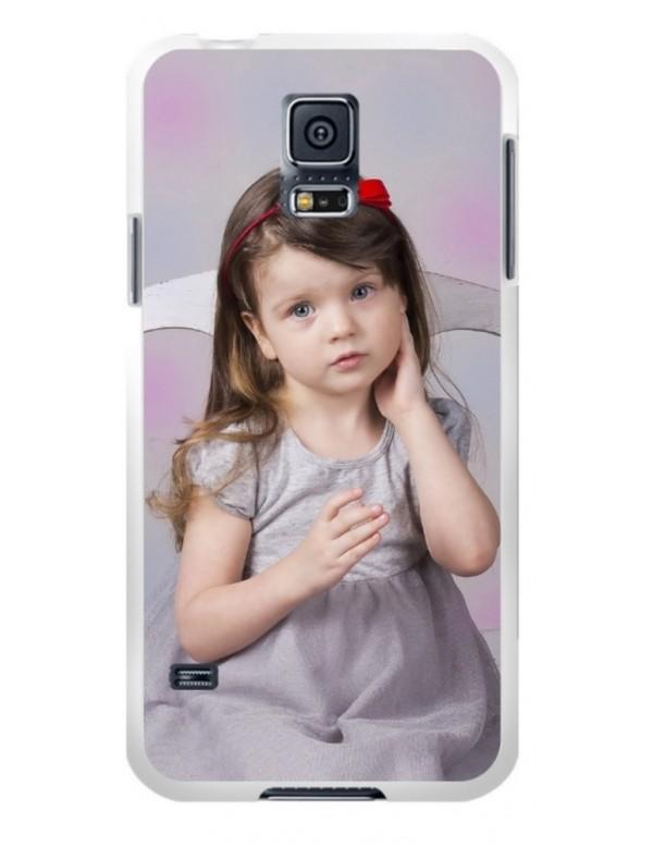 Samsung Galaxy S5 - Coque personnalisable - Rigide Blanc