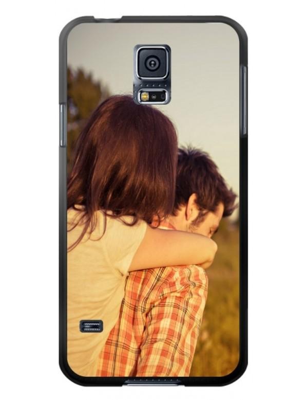Samsung Galaxy S5 - Coque personnalisable - souple Noir