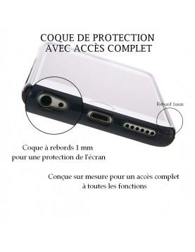 Coque Huawei P8  à Personnaliser- Contour Rigide Noir