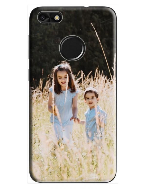 Coque Huawei P10 Lite  à Personnaliser- Contour Rigide Noir