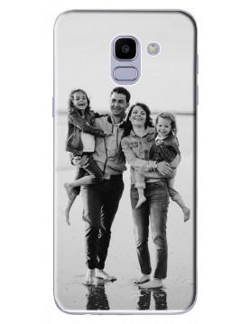 Samsung-Galaxy-J6-2018-Coque-personnalisable-Souple-Noir