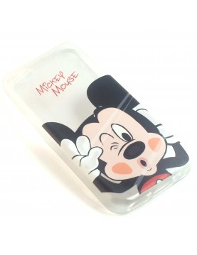 Coque silicone transparente Mickey mousse pour iPhone 5/5S