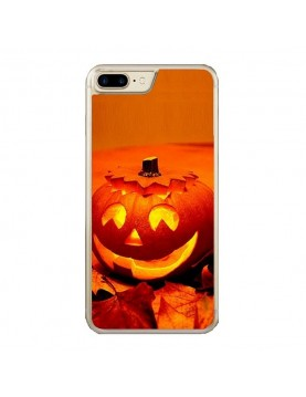 Coque iPhone 7 PLUS/8 PLUS - Halloween citrouille orange