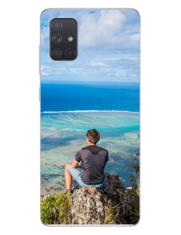 Samsung Galaxy A51 5G - Coque personnalisable - Souple Noir