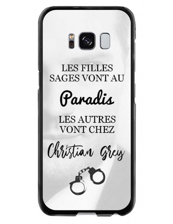 Coque rigide Samsung Galaxy S8 - Christian Grey - Menottes