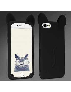 Coque silicone iPhone 5/5S Chat noir Oreilles 3D