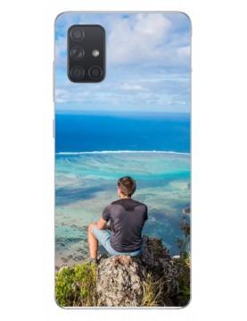 Samsung Galaxy A51 - Coque personnalisable - Souple noir