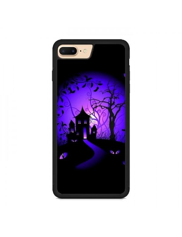 Coque iPhone 7 Plus/8 PLUS, Halloween maison hantée noir violet