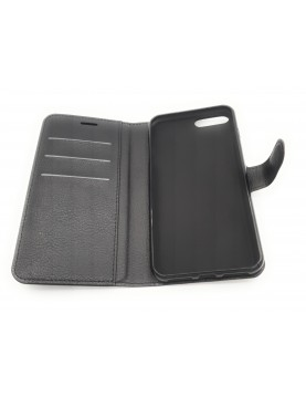 Etui portefeuille iPhone 7 PLUS/8 PLUS - Simili Cuir noir