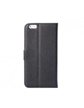 Etui portefeuille iPhone 6 Plus/6S Plus - Simili Cuir Noir