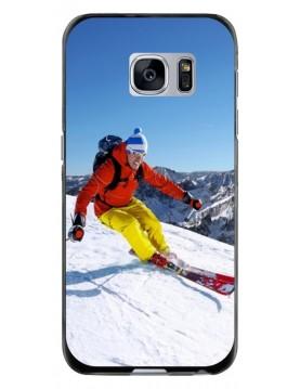 Samsung Galaxy S6 Edge - Coque personnalisable - Souple Noir