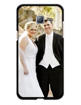 Coque-personnalisée Samsung-Galaxy-J3-2016-Souple-Noir