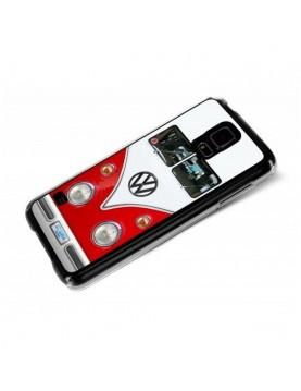 Coque Samsung Galaxy S5 Calandre Combi VW Rouge et Blanc