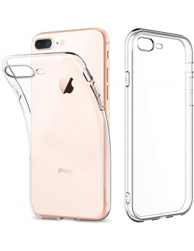COQUE TPU SLIM IPHONE 7+/8+, épaisseur 0,5mm, silicone transparent