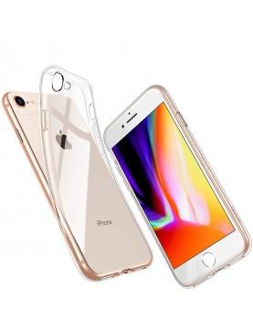 COQUE TPU SLIM IPHONE 7/8, épaisseur 0,5mm, silicone transparent
